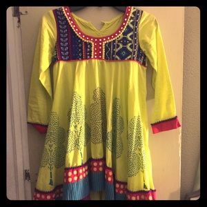 Other - Small Bright Dress with Colorful Tree Pattern